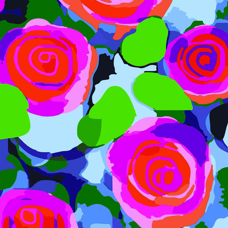 Presentpapper Blommor