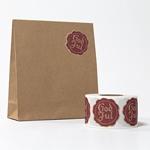 Presentpåse papper med etikett