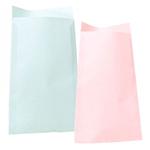 Plana färgade papperpåsar