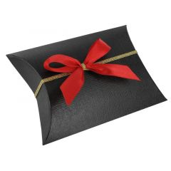 Presentrosett textil röd