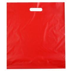 Plastbärkasse röd