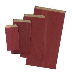 Plan papperspåse vinröd