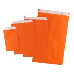 Plan papperspåse orange