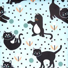 Presentpapper Cats ljusblå FSC