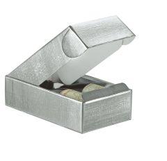 Flasklåda liggande linnepräglad silver