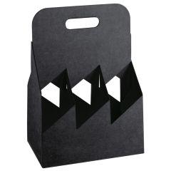Flaskkorg kartong svart