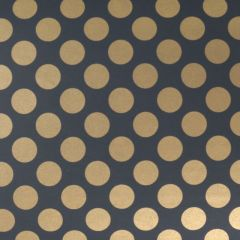 Presentpapper Black golden dots