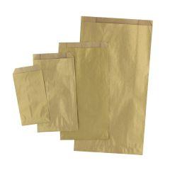 Plan papperspåse guld
