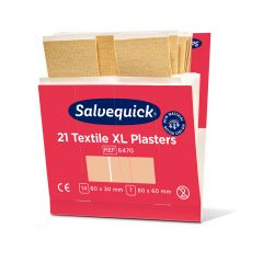 Salvequick Extra stora textilplåster / Refill