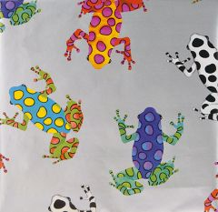 Presentpapper Färgglada grodor