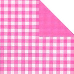 Presentpapper Rut hot pink små rullar